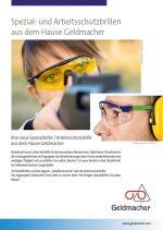 Spezialbrillen und Arbeitsschutzbrillen